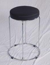 Model STOOL - In Black Art Leather